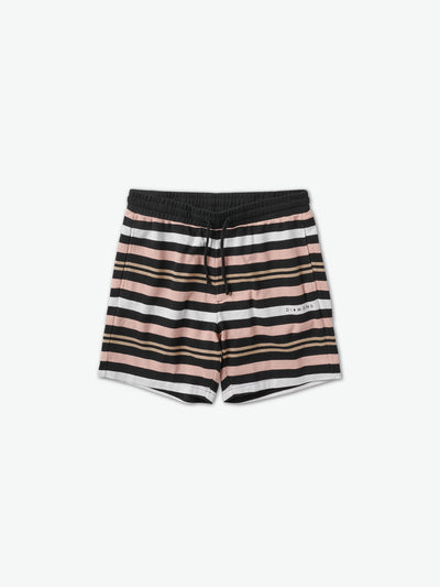 Marquise Striped Shorts - Black