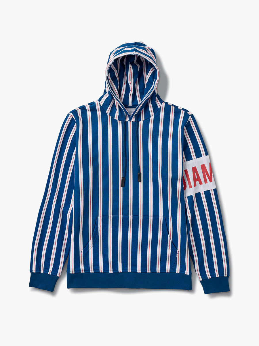 The Hundreds - Lafayette Striped Hoodie - Navy