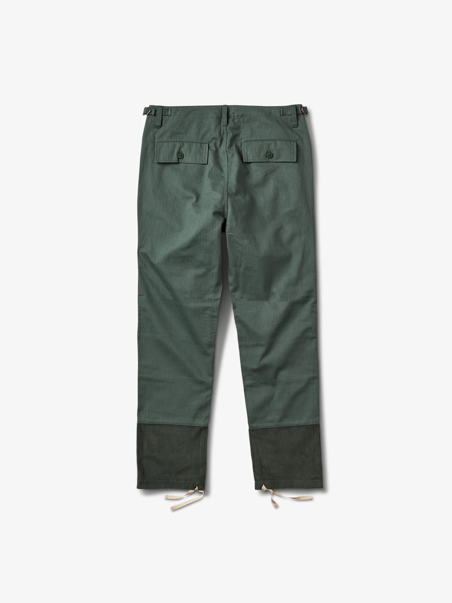 Bunker Herringbone Pants - Army