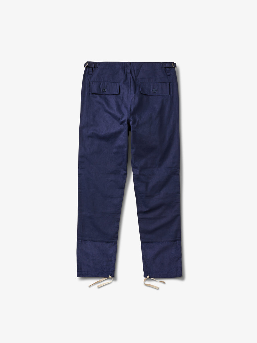 Bunker Herringbone Pants - Navy