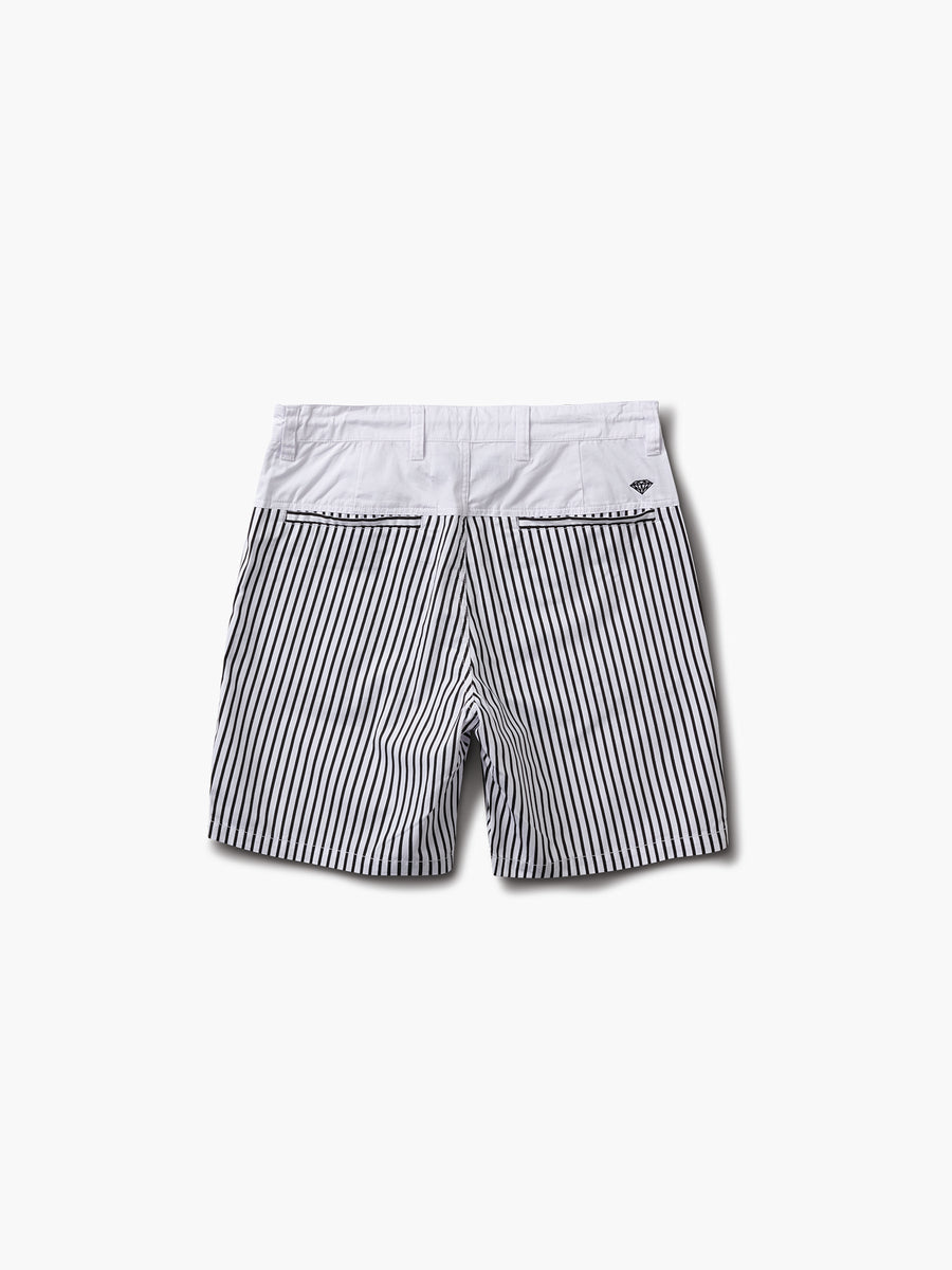 Crosby Twill Shorts - White & Black