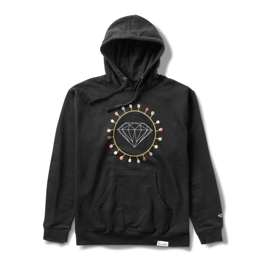 Diamond Chain Hoodie - Black