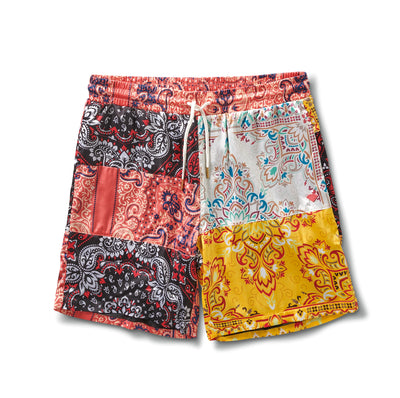 Paisley Patchwork Shorts - Multi