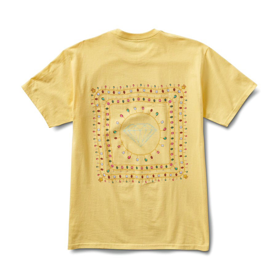 Diamond Chain Tee - Banana