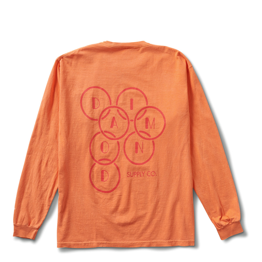 Deco Diamond Long Sleeve Tee - Melon
