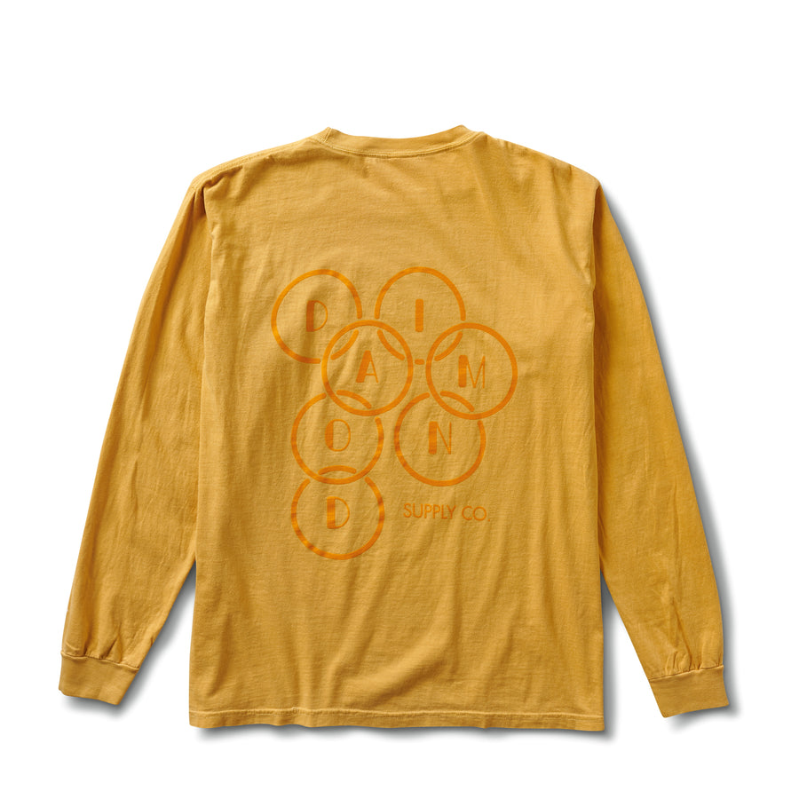 Deco Diamond Long Sleeve Tee - Mustard
