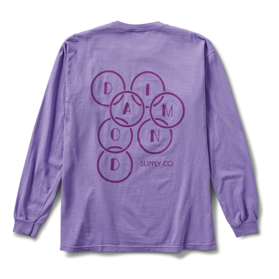 Deco Diamond Long Sleeve Tee - Violet