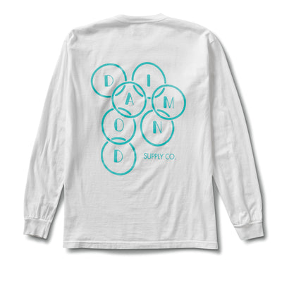 Deco Diamond Long Sleeve Tee - White