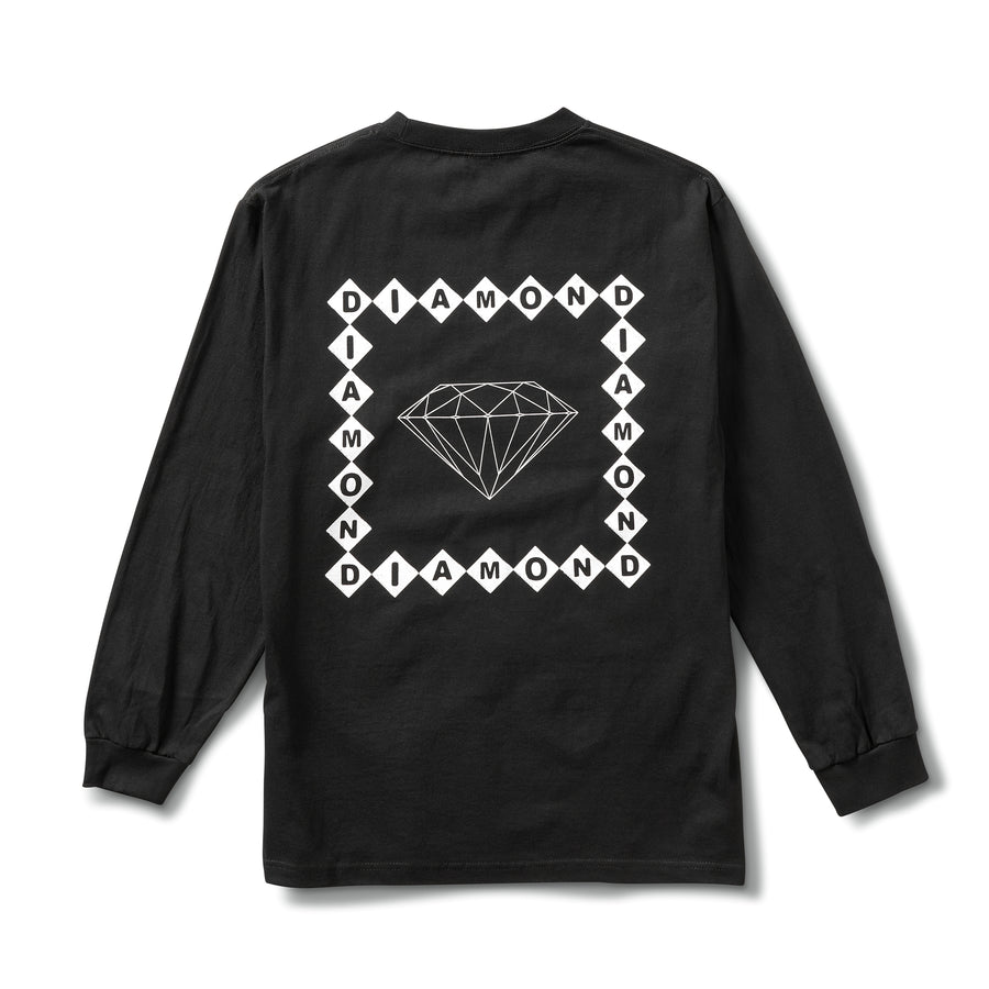 Diamond Link Long Sleeve Tee - Black