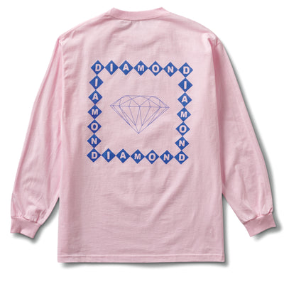Diamond Link Long Sleeve Tee - Light Pink