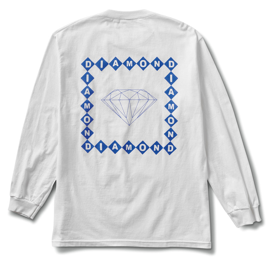 Diamond Link Long Sleeve Tee - White
