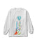 Peace & Love Long Sleeve Tee - White