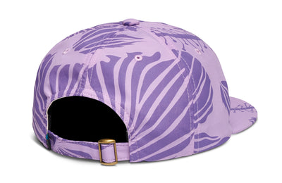 Leeway Petal 6-Panel Unstructured Strapback - Purple