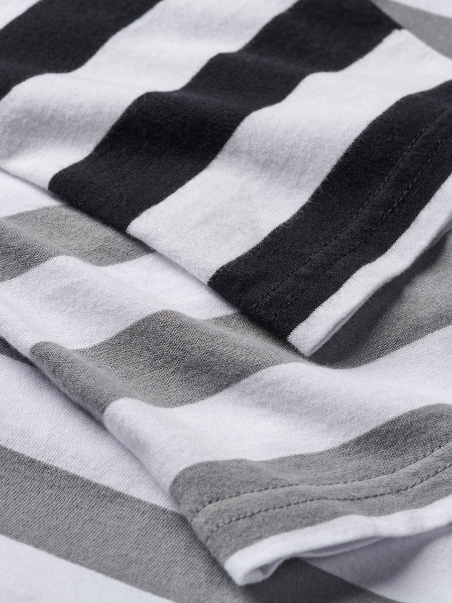 Diamond Striped Longsleeve Tee - Black