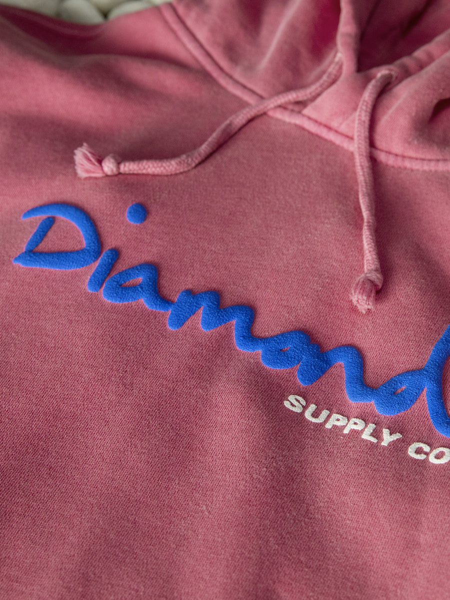 OG Script Overdyed Puff Print Hoodie - Pink