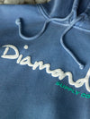 OG Script Overdyed Puff Print Hoodie - Blue, Puff Print QS -  Diamond Supply Co.