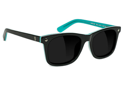 Diamond x Glassy Sunglass Hampshire Polarized - Black / Blue