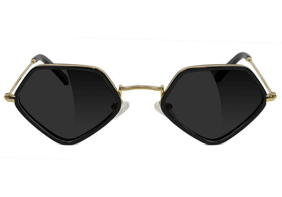 Diamond x Glassy Sunglass Loy Polarized - Black / Gold