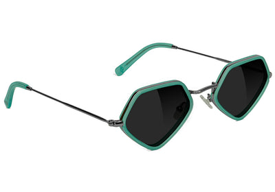 Diamond x Glassy Sunglass Loy Polarized - Blue / Silver