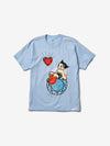 Diamond x Astroboy Heart Tee - Powder Blue