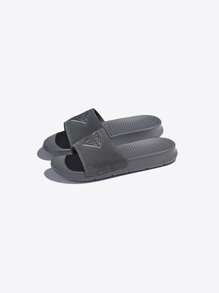 diamond fairfax slide suede diamond supply co