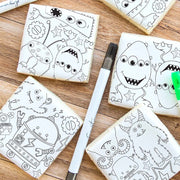 Monster Colouring Cookies