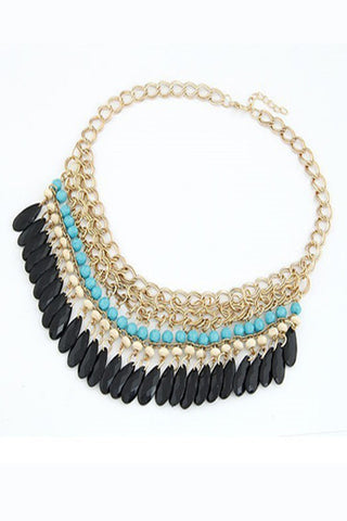 Princess Libuse Bohemia Coin Statement Necklace
