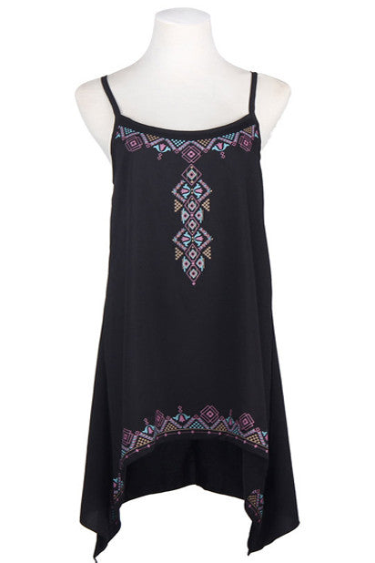 Sleeveless Boho Cumbi Dress - Indie Boho Boutique