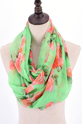 The Rhiannon Scarf In Summer Peach