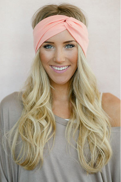 Moon Shadow Turban Headband (Coral)-Accessories-Indie Boho Boutique