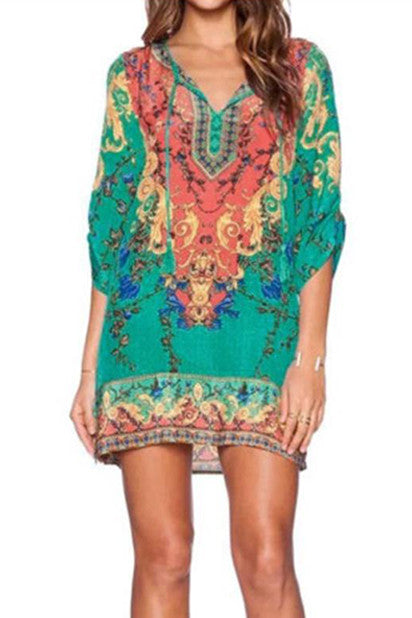 Vintage Boho Kamadeva Shift Dress-Women's Fashion-Indie Boho Boutique