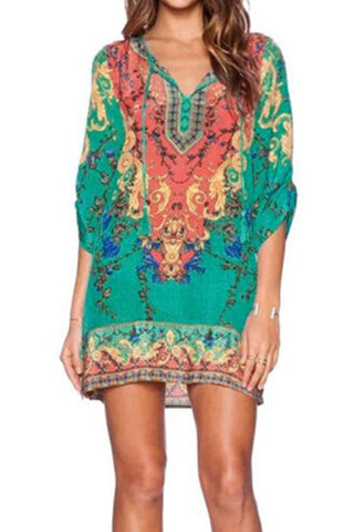 Paisley Lace Boho Beach Dress (Crochet)