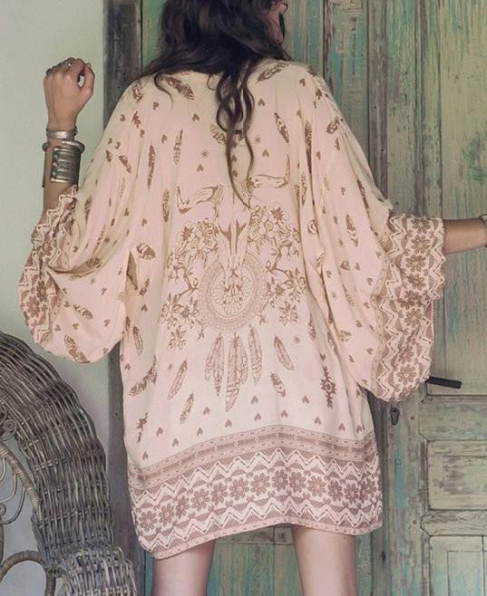 Navajo Long Sleeve Kimono-Women's Fashion-Indie Boho Boutique