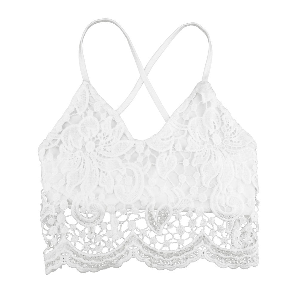 Juliet Deep V Lace Halter Top (Handmade Crochet)-Women's Fashion-Indie Boho Boutique