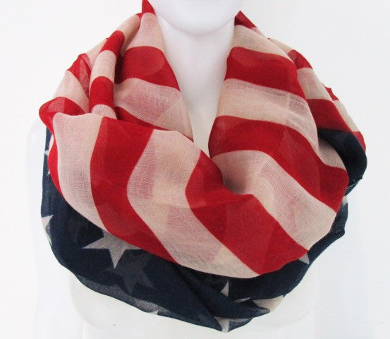 Vintaged Stars & Stripes Betsy Infinity Scarf - Indie Boho Boutique