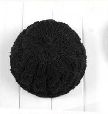 The Perfect Lace Knit Slouch Beanie (Midnight Black) - Indie Boho Boutique