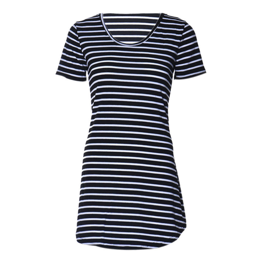 Jackie O Nautical Stripe Dress In Black (With White Stripes) - Indie Boho Boutique