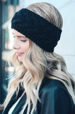 Knitted Turban Headband (Black) - Indie Boho Boutique