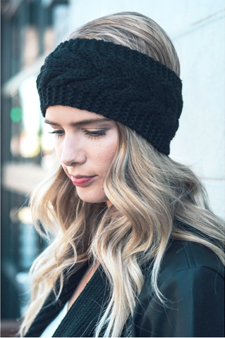 The Perfect Lace Knit Slouch Beanie (Cardinal Red)