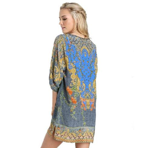 Paisley Delight Lace Baroque Dress-Women's Fashion-Indie Boho Boutique