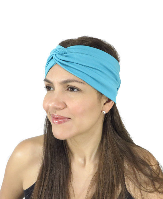 Moon Shadow Turban Headband (Whole Blue)-Accessories-Indie Boho Boutique