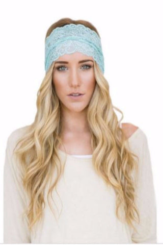 Moon Shadow Turban Headband (Whole Blue)