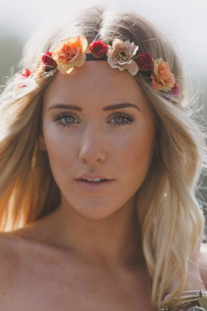 Multi Colored Flower Crown-Accessories-Indie Boho Boutique
