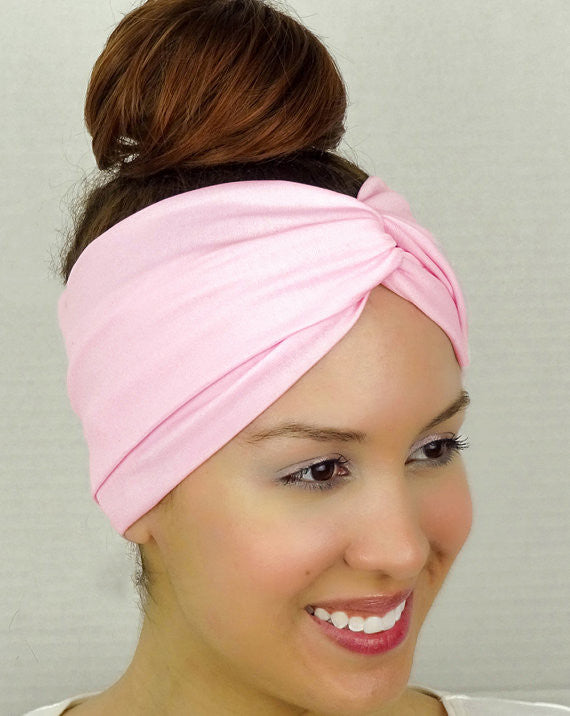 Moon Shadow Turban Headband (Pink) - Indie Boho Boutique