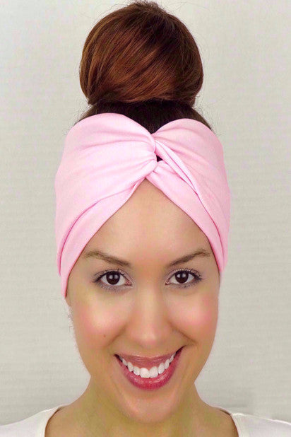 Moon Shadow Turban Headband (Pink)-Accessories-Indie Boho Boutique