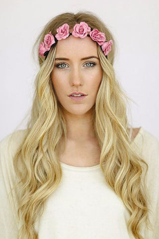 Pretty Petals Flower Crown Headband in Lily White