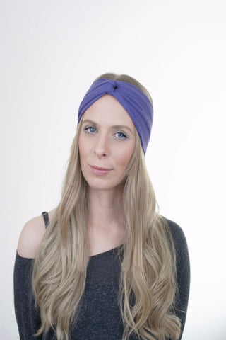 Twin Twist Handmade Turban Headband In Black & White