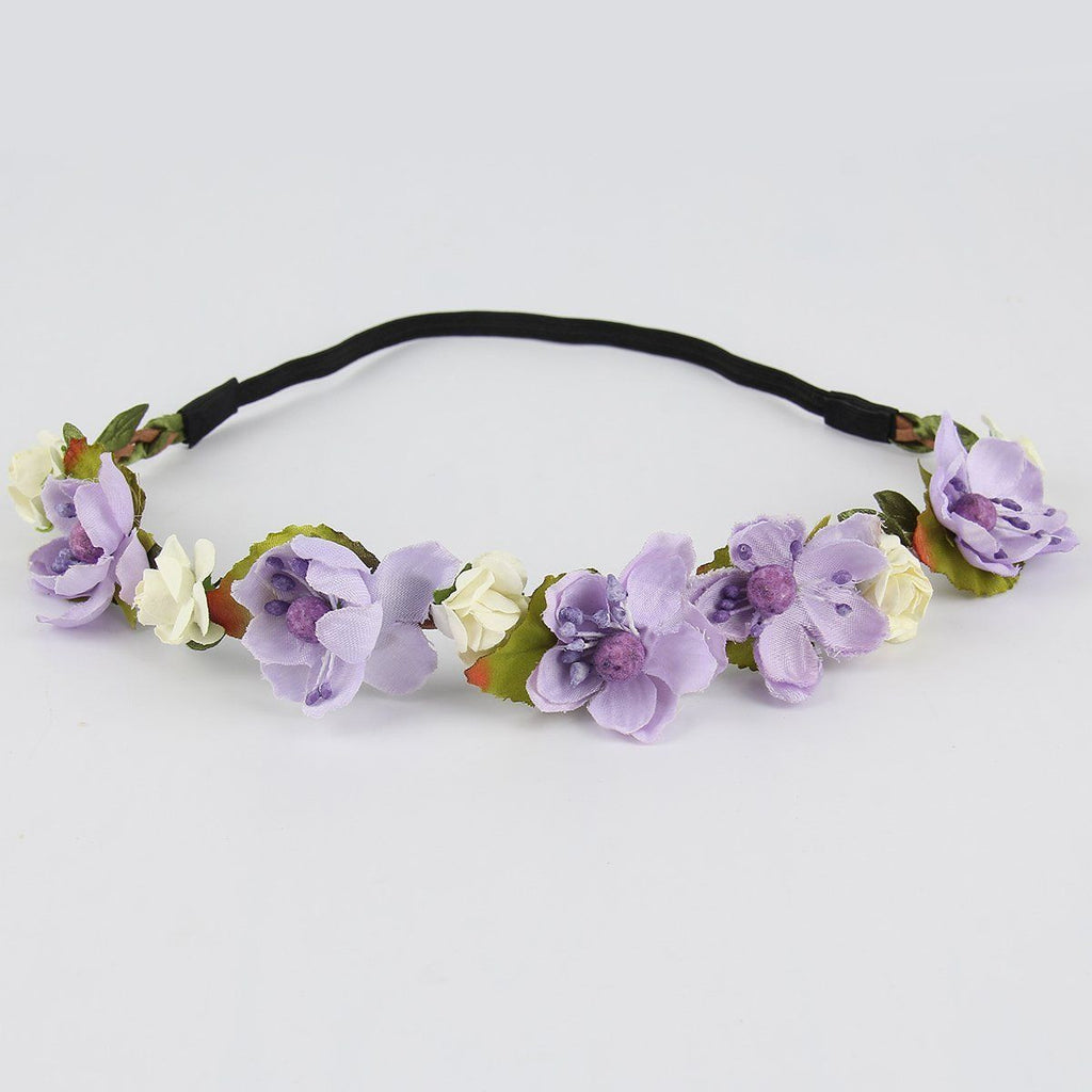 Beautiful Flower Crowns. Available in 5 Vibrant Colors.-Accessories-Indie Boho Boutique