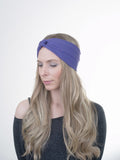 Moon Shadow Turban Headband (Royal Purple)-Accessories-Indie Boho Boutique