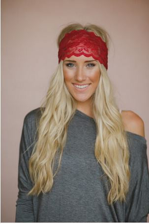 Lace Headwraps (More Colors to Choose From)-Accessories-Indie Boho Boutique